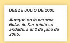 Desde Julio de 2005... ha llovido...