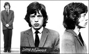 Imágenes de la ficha policial de Jagger tras su arresto por el escándalo de Redlands.