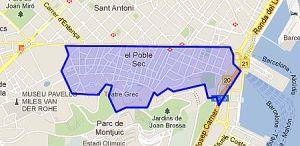 Por encima del Paral·lel, por debajo de Montjuïch.